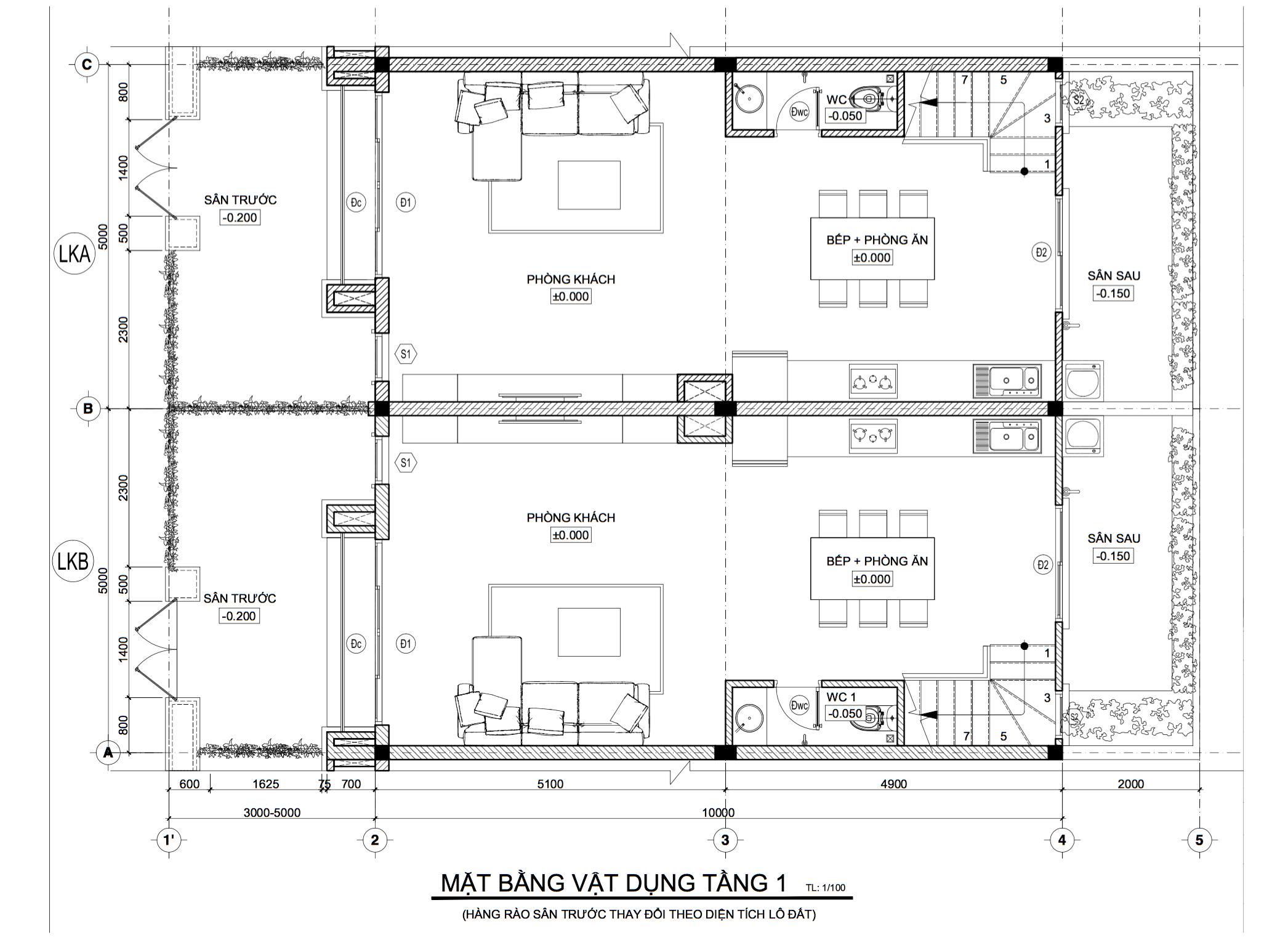 Bản vẽ thiết kế nhà phố Phúc An Garden Bình Dương (1 trệt 2 lầu)   Thị  trường Today